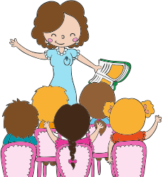 Bambini lezione in fattoria didattica