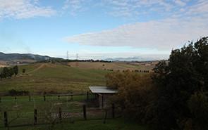 Panoramica delle colline toscane dalla fattoria